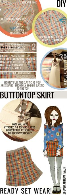 diy skirt clothing recycle
