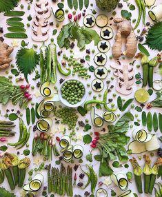 INSTA INSPO | Green veggies flatlay