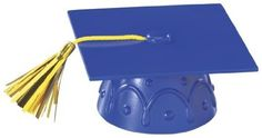 Blue Graduation Cap with Tassel Cake Topper >> Special product just for you. : baking decorations