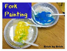 Fine Motor Activity of the Week: Fork Painting-pinned by @PediaStaff – Please Visit ht.ly/63sNtfor all our pediatric therapy pins