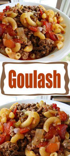 Mom's Goulash – Healthy Recipes & Tips Vegan Bowl Recipes, Healthy Muffin Recipes, Healthy Meals, Healthy Food, Slow Cooker Recipes, Beef Recipes, Cooking Recipes, Hamburger Recipes, Recipies