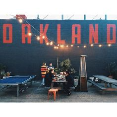 O A K L A N D. Lost & Found beer garden via Kellyjuanson on Instagram.