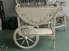 FRENCH TOLE PAINTED TEA CART