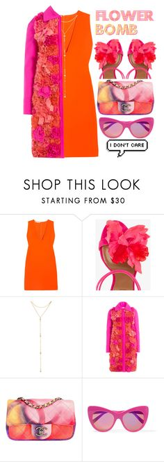 """""""FLOWER BOMB"""" by kawrose02 ❤ liked on Polyvore featuring STELLA McCARTNEY, Aquazzura, Fragments, Victoria, Victoria Beckham, Chanel and StellaMcCartney"""
