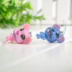 Stitch couple phone pendant