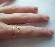 Trilateral Triangle Ring