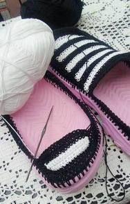 DIY Virkatut kengät