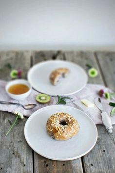 Heidelbeerbagel zum Frühstück