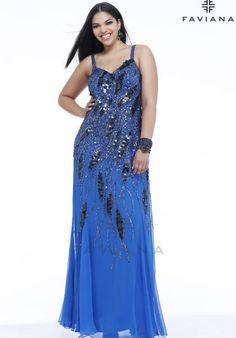 Faviana Dress 9321 at Peaches Boutique