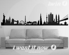 World Skyline Wall Decals – i want it now
