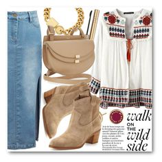 """""""Boho Chic"""" by stylemoi-offical ❤ liked on Polyvore featuring Marc by Marc Jacobs, Dolce&Gabbana, Chloé, Gianvito Rossi and stylemoi"""