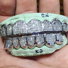 >>>Cheap Sale OFF! >>>Visit>> Stop playing & put your money where ur mouth is . Diamond Grillz, Diamond Teeth, Personalized Jewelry, Custom Jewelry, Girl Grillz, Gold Slugs, Rapper Jewelry, Grills Teeth, Gold Teeth
