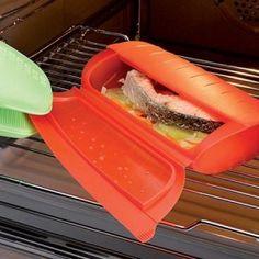 El estuche de vapor permite conseguir de forma rápida y sencilla, exquisitas elaboraciones al vapor con una cocción al horno o micro-ondas. VER VIDEO!    Recetas disponibles ...