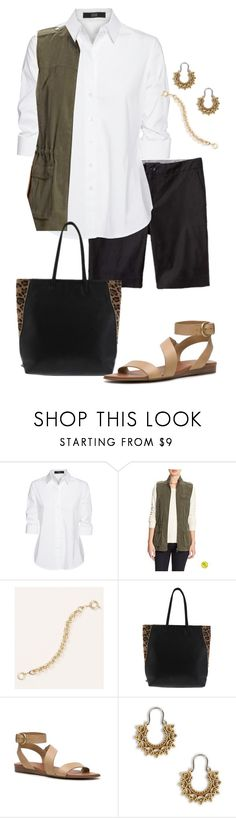 """""""Untitled #879"""" by texasgal50 ❤ liked on Polyvore featuring Steffen Schraut, Banana Republic, Franco Sarto and Lucky Brand"""
