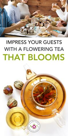 Our #floweringteas are a great conversation starter and produce a lovely tasting tea that will make your cup erupt with a delicate flavor profile. Steep it again & again to make even more delicious tea - as each #bloomingtea ball can be used 3 times! Impress your guests or give your tea a little something extra with TeaBloom's flowering #greentea.  | #healthylifestyles #healthyfdiet #healthylife #tealovers #teabloom #healthy #teagiftsets #MothersDay #ValentinesDay