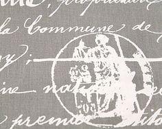 Home Decor Fabric Script Premier Prints penmanship by FabricSecret, $5.50