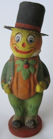 Early 1900's German Halloween Composition Candy Container.