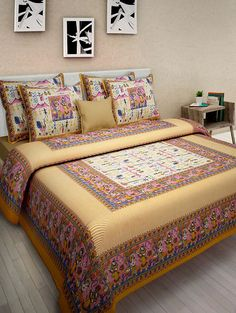 For More Types Of Fabrics And Designs Of Bed Sheets And Cushion Cover, You  Can Visit The Jaipur Fabrics. | Jaipuri Bed Sheets | Pinterest | Jaipur