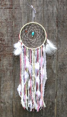 Hey, I found this really awesome Etsy listing at https://www.etsy.com/listing/197056084/large-nursery-dreamcatcher-pink-and