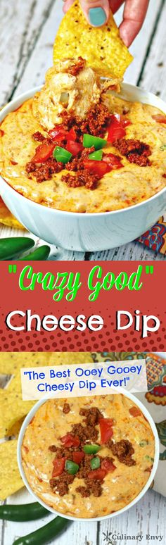 This is the Perfect Summertime Cheesy Dip.  It will knock your guests socks off!  This WILL be the first dip to go!  Click to read more or pin & save for later.