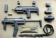 Thanks to George Bush, any deranged American can purchase these guns, and take them to movie premiers. Heckler & Koch, Military Weapons, Weapons Guns, Guns And Ammo, Military Life, Revolver, Airsoft, Tactical Equipment, Tactical Gear