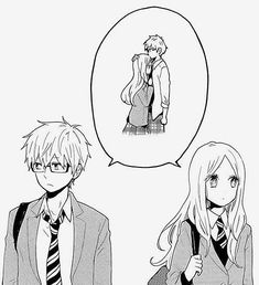 Anime Couples I'm reading this super cute manga called Hibi Chouchou and its so cute! It's about two shy people who fall in love but they are to shy to tell one another how they feel - Couple Manga, Anime Love Couple, Cute Anime Couples, Anime Cosplay, Manga Anime, Hibi Chouchou, Photo Manga, Manga Love, Couple Drawings