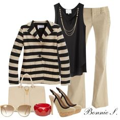 black, nude & red, created by bonnaroosky on Polyvore