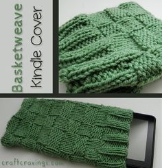 Free Basketweave Kindle/Nexus cover knitting pattern. #craftcravings #knitting #kindle