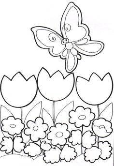 Spring Coloring Pages: Spring coloring sheets can actually help your kid learn more about the spring season. Here are top 25 spring coloring pages free Spring Coloring Pages, Easter Coloring Pages, Flower Coloring Pages, Coloring Book Pages, Coloring Pages For Kids, Coloring Sheets, Drawing For Kids, Art For Kids, Diy And Crafts