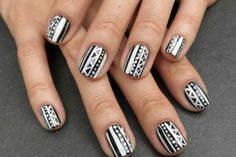 African-Tribal-Nail-Art1.png (500×334)