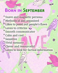 September Born Personality Quotes | Hello September Quotes