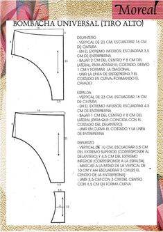 confeccion de blusas paso a paso – Google Search Underwear Pattern, Lingerie Patterns, Bra Pattern, Bikini Pattern, Dress Sewing Patterns, Clothing Patterns, Orange Bikini, Creation Couture, Shirt Refashion