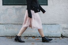 tifmys – H&M Mohair bag, Gucci Dionysus knit, Zara tulle skirt & Asos studded boots.