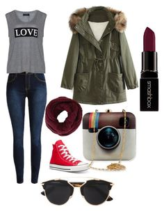 """""""Untitled #31"""" by agaogludilara on Polyvore featuring Carmakoma, Converse, WithChic, Christian Dior, BCBGMAXAZRIA, Smashbox, women's clothing, women, female and woman"""