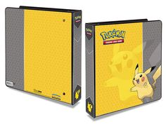 Ultra Pro Pokemon 2 Album Pikachu: Pokemon album with reinforced 2″ D-rings. This 3-ring album holds Ultra PRO 9-pocket pages and has a beautiful 4-color printed embedment cover. Features Pikachu.