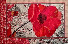 Ruth McDowell Quilts Art | Poppy (2012, 72×48)