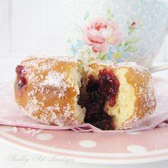 Homemade Hot Raspberry Jam Donuts - Shabby Art Boutique