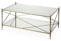 Charlotte Mirrored Coffee Table, Gold
