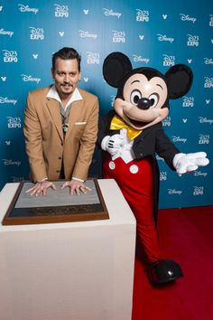 Johnny Depp...and a mouse.