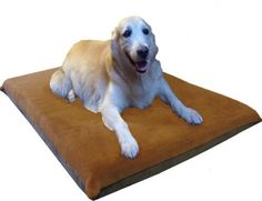 "47X29""X4"" Sudan Brown Orthopedic Waterproof Memory Foam Pet Pad Bed for Extra Large dog crate size 48""X30"" with 2 external covers ** Read more details by clicking on the image. #DogBedsFurniture"