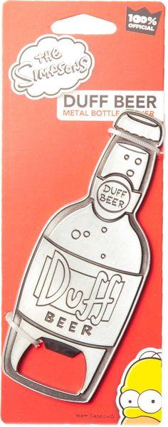 Duff Beer Bottle Opener - http://www.ineedthatshit.com/duff-beer-bottle-opener/