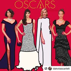 http://EmpireBBK.com #Repost @dakotascarlett with @repostapp  I was just playing around for a little when I was watching the Oscars and I made this quick illustration for some of my favorite looks of the night! Taraji P. Henson in Alberta Ferretti Sofia Boutella in Chanel Haute Couture Karlie Kloss in Stella McCartney Alicia Vikander in Louis Vuitton - - - - - - #tarajiphenson #albertaferretti #sofiaboutella #chanel #karliekloss #stellamccartney #aliciavikander #louisvuitton #oscars…