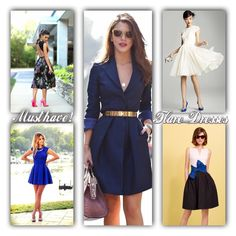 Must have!  Flare dresses   REF: Glamouricons1.wordpress.com