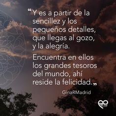 Frase de Gina R Madrid Madrid, Weather, Movies, Wellness, Happiness, Films, Movie, Film, Movie Theater