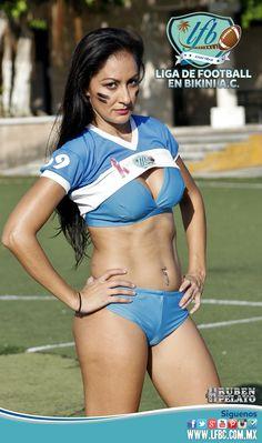 Equipo Femenil de Football Americano en Bikini LFB