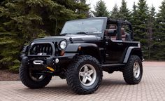 Black Jeep Wrangler 1999 to 2001