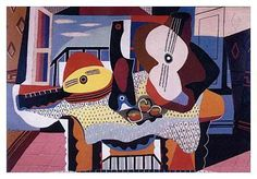 Still Life With Mandolin & Guitar, Pablo Picasso