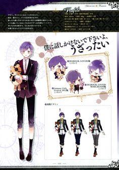 Tags: Scan, Character Sheet, IDEA FACTORY, Official Art, Satoi, Diabolik Lovers ~Haunted dark bridal~, Sakamaki Kanato, Rejet, Diabolik Lovers Official Setting Collection