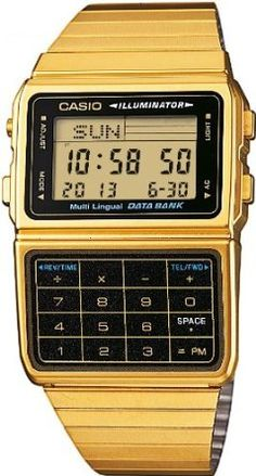Casio:: calculator watch. Gold & or Silver forever.