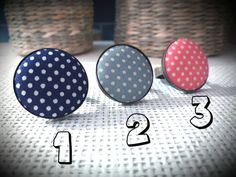 Polka dots and brass adjustable rings by artdcbydc on Etsy
